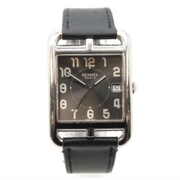 Hermès Silver Black Quarz Cope Cod Unisex Watch